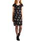 Black crane print cowl neck dress Sale - yumi Sale