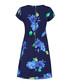 Blue floral print short sleeve dress Sale - yumi curve Sale