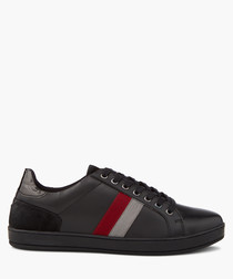 Theo black striped sneakers