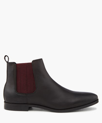 Charing black Chelsea boots