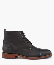 Chicago black lace-up boots