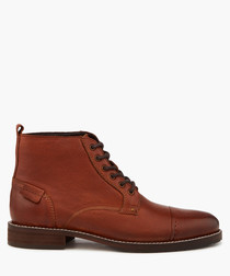 Chicago tan lace-up boots