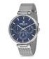 Silver-tone mesh strap & blue dial watch Sale - daniel klein Sale