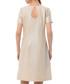 Beige floral cotton blend shift dress Sale - iren klairie Sale