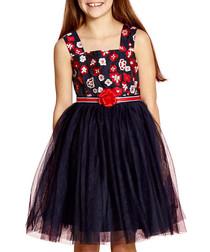 english rose navy prom dress
