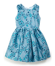 Duck egg floral print dress