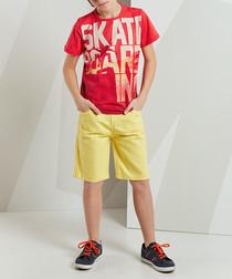 2pc Skate Gabardine shorts & top set