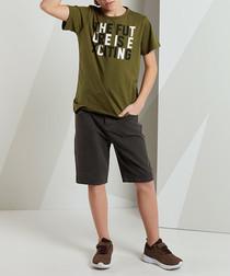 2pc Future Denim shorts & top set