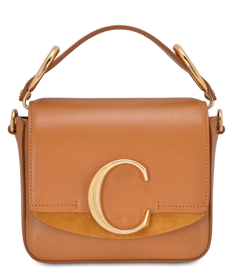 chloe c mini tan calfskin shoulder bag Sale - chloe