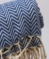 Handloom blue chevron pure cotton towel Sale - hamam Sale