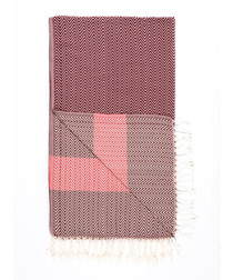 Handloom burgundy pure cotton towel