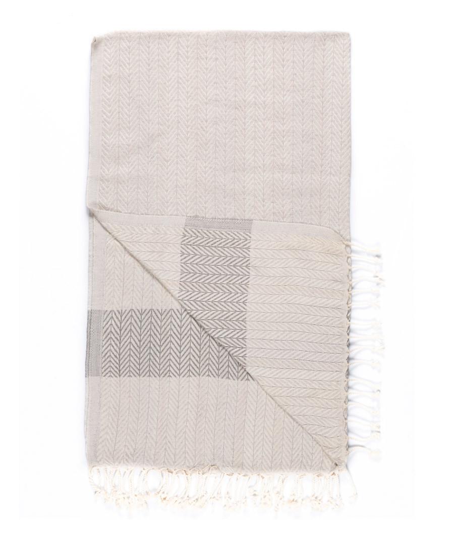Handloom ash chevron pure cotton towel Sale - hamam