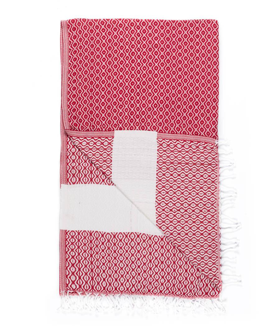 Handloom red tile pure cotton towel Sale - hamam