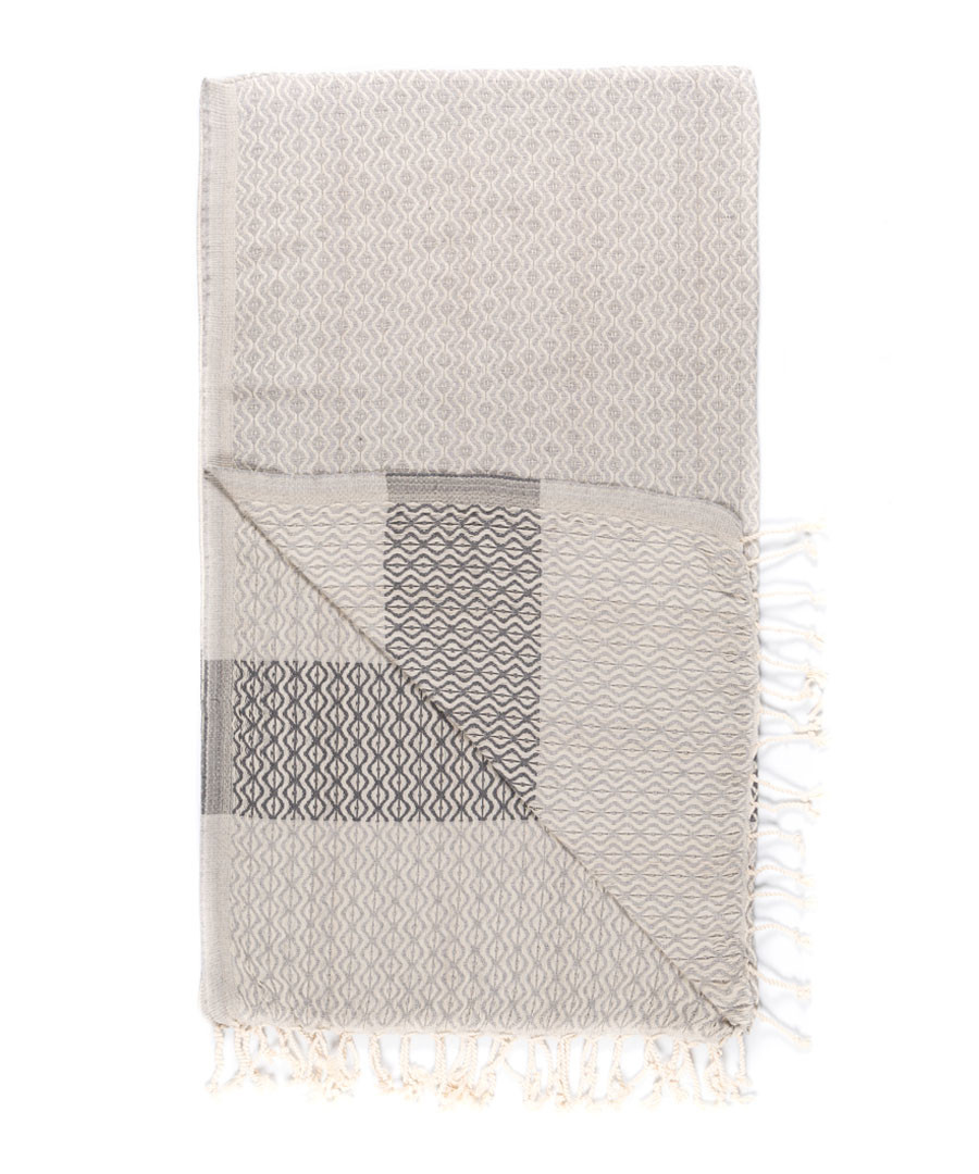 Handloom ash tile pure cotton towel Sale - hamam