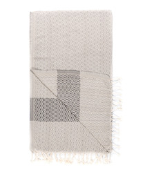 Handloom ash tile pure cotton towel