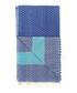 Handloom blue tile pure cotton towel Sale - hamam Sale