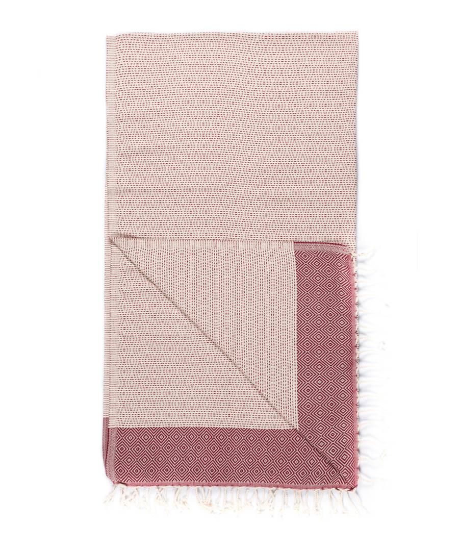 Handloom beige tile pure cotton towel Sale - hamam