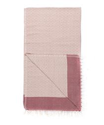 Handloom beige tile pure cotton towel