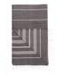 Handloom graphite stripe cotton towel Sale - hamam Sale