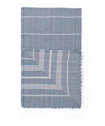 Handloom pewter stripe cotton towel
