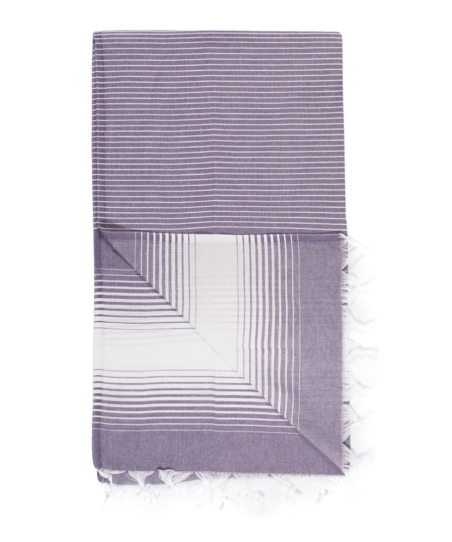 Handloom purple grade pure cotton towel Sale - hamam