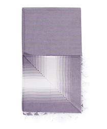 Handloom purple grade pure cotton towel