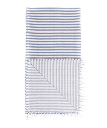 Handloom blue stripe pure cotton towel