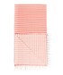Handloom orange stripe pure cotton towel Sale - hamam Sale