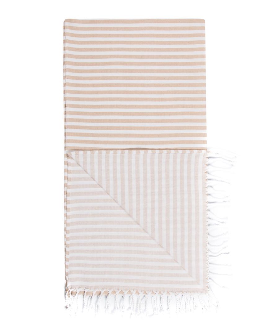 Handloom sand stripe pure cotton towel Sale - hamam