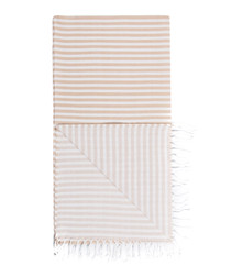 Handloom sand stripe pure cotton towel