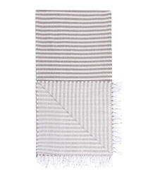 Handloom grey stripe pure cotton towel