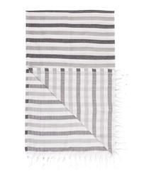 Handloom greyscale stripe cotton towel