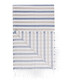 Handloom grey & blue stripe cotton towel Sale - hamam Sale