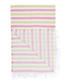 Handloom pink & green cotton towel Sale - hamam Sale