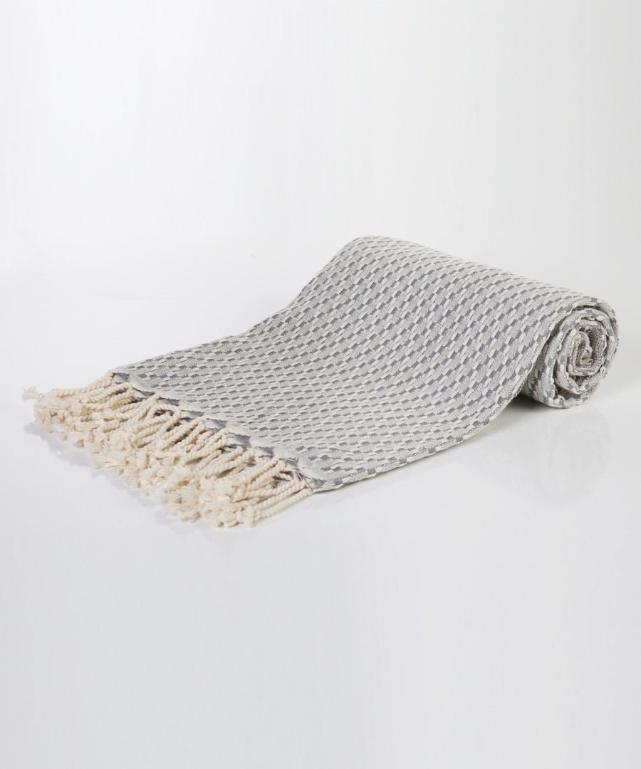 Handloom greyscale pure cotton towel Sale - hamam