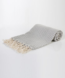 Handloom greyscale pure cotton towel