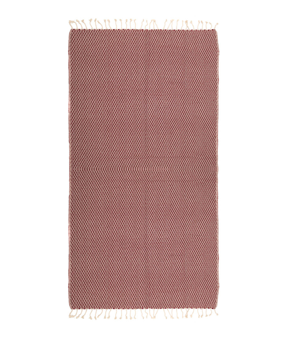 Handloom red pure cotton towel Sale - hamam