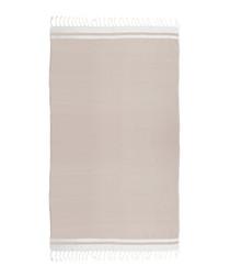 Handloom brown & white pure cotton towel