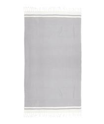 Handloom grey & white pure cotton towel