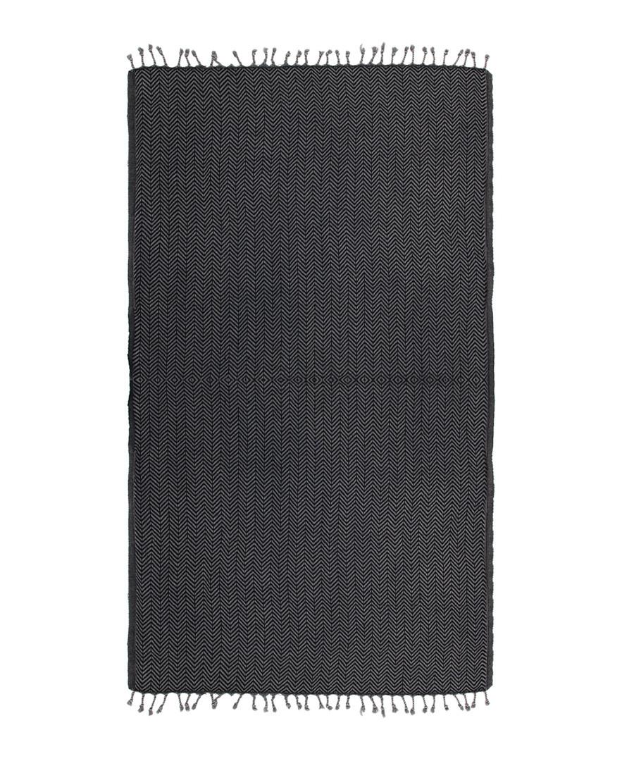 Handloom graphite pure cotton towel Sale - hamam