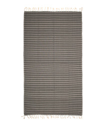 Handloom grey zigzag pure cotton towel