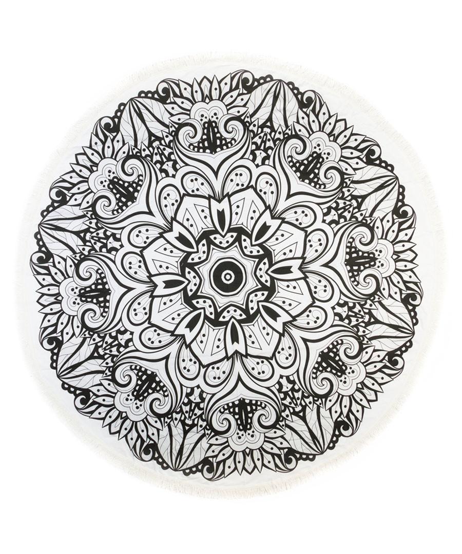 Black Brocade pure cotton picnic blanket Sale - hamam