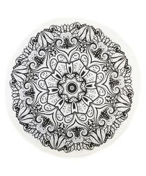 Black Brocade pure cotton picnic blanket