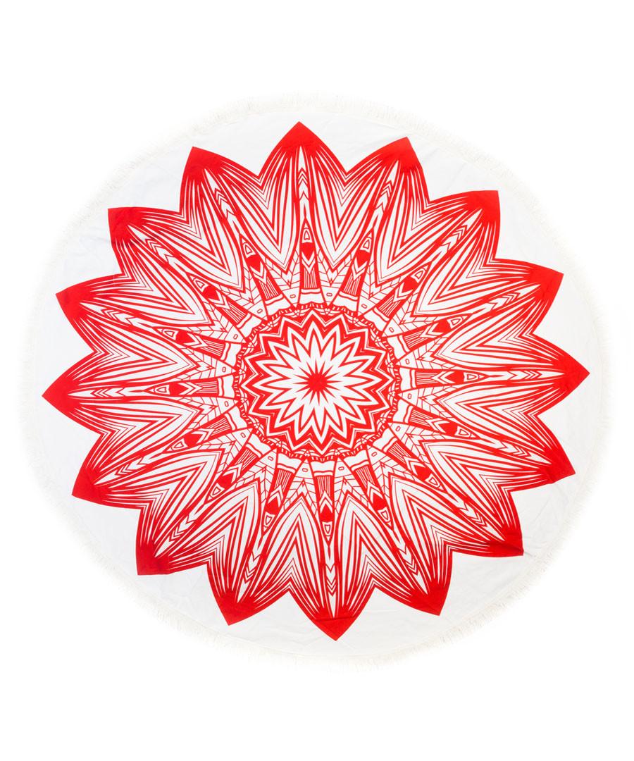 Red sun pure cotton picnic blanket Sale - hamam