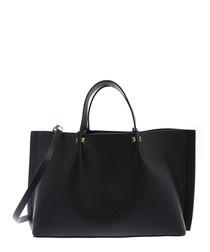 Go Escape black leather shopper