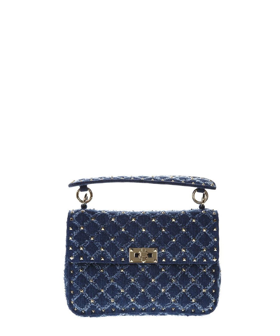 Rockstud Spike denim shoulder bag Sale - valentino