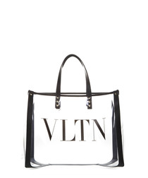 VLTN Plexy small clear tote bag