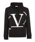 Deconstructed Go black cotton hoodie Sale - valentino Sale
