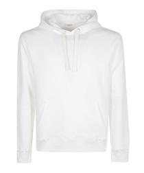 rockstud untitled white cotton hoodie