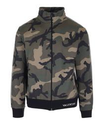 camouflage cotton blend track jacket